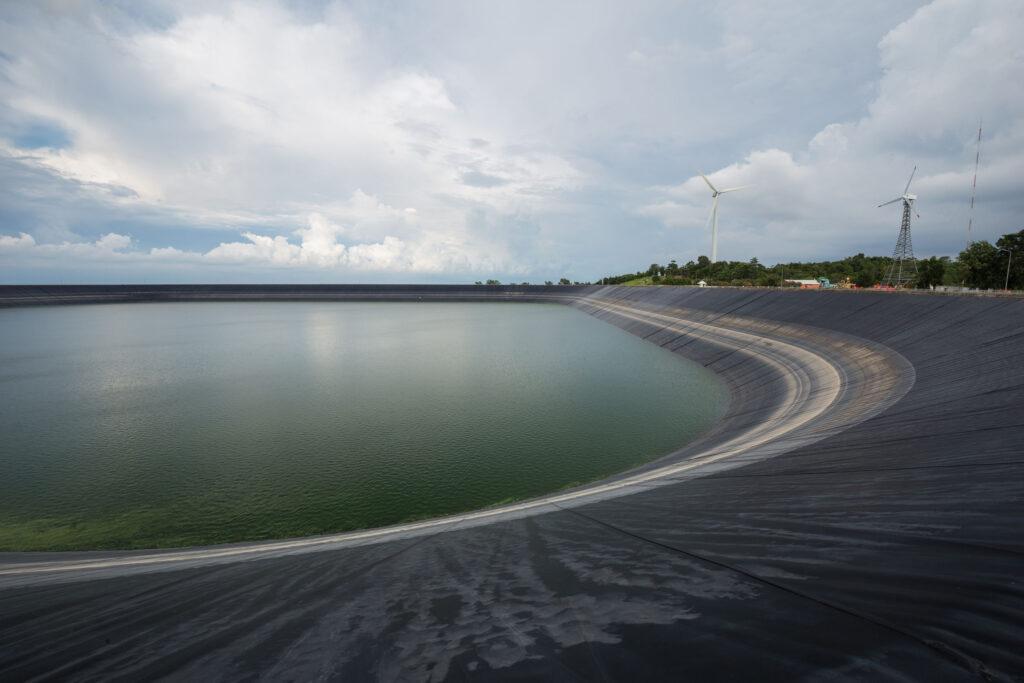 45632744 - lam takong reservoir (water reservoir with plastic liner), nakhon ratchasima, thailand